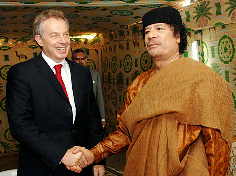 Tony Blair & Col. Qadhafi